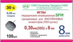 Игла стерильная одноразовая для шприц-ручек, р. 0.30ммх8мм 30G №100