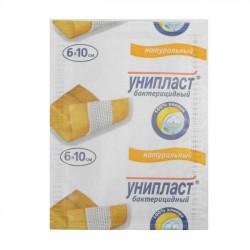 Лейкопластырь бактерицидный, Унипласт р. 6смх10см №1 натуральный