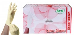 Перчатки смотровые латексные нестерильные неопудренные, Сфм хоспитал р. L №50 арт. 534452 текстурированные однократная хлоринация пара натуральный цвет 2400001225408