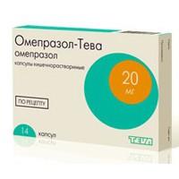Омепразол-Тева, капс. кишечнораств. 10 мг №28