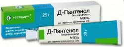 Д-Пантенол, мазь д/наружн. прим. 5% 25 г №1