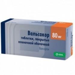 Вальсакор, табл. п/о пленочной 80 мг №90